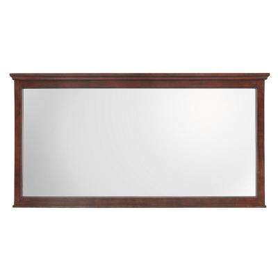 Ashburn 60 in. W x 31 in. H Single Framed Wall Mirror in Mahogany
