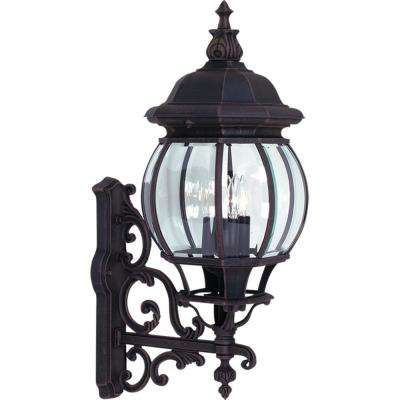 4-Light Rust Outdoor Wall Mount Sconce