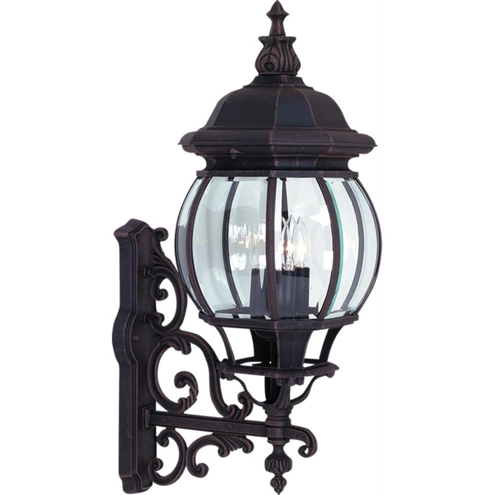 ARTCRAFT 4-Light Rust Outdoor Wall Lantern Sconce
