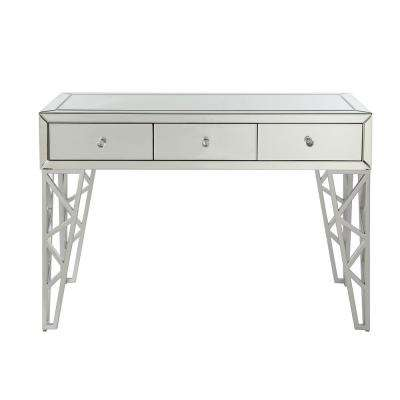 Stephen Mirrored and Chrome Console Table
