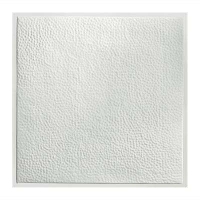 Chicago 2 ft. x 2 ft. Lay-In Tin Ceiling Tile in Gloss White (Case of 5)