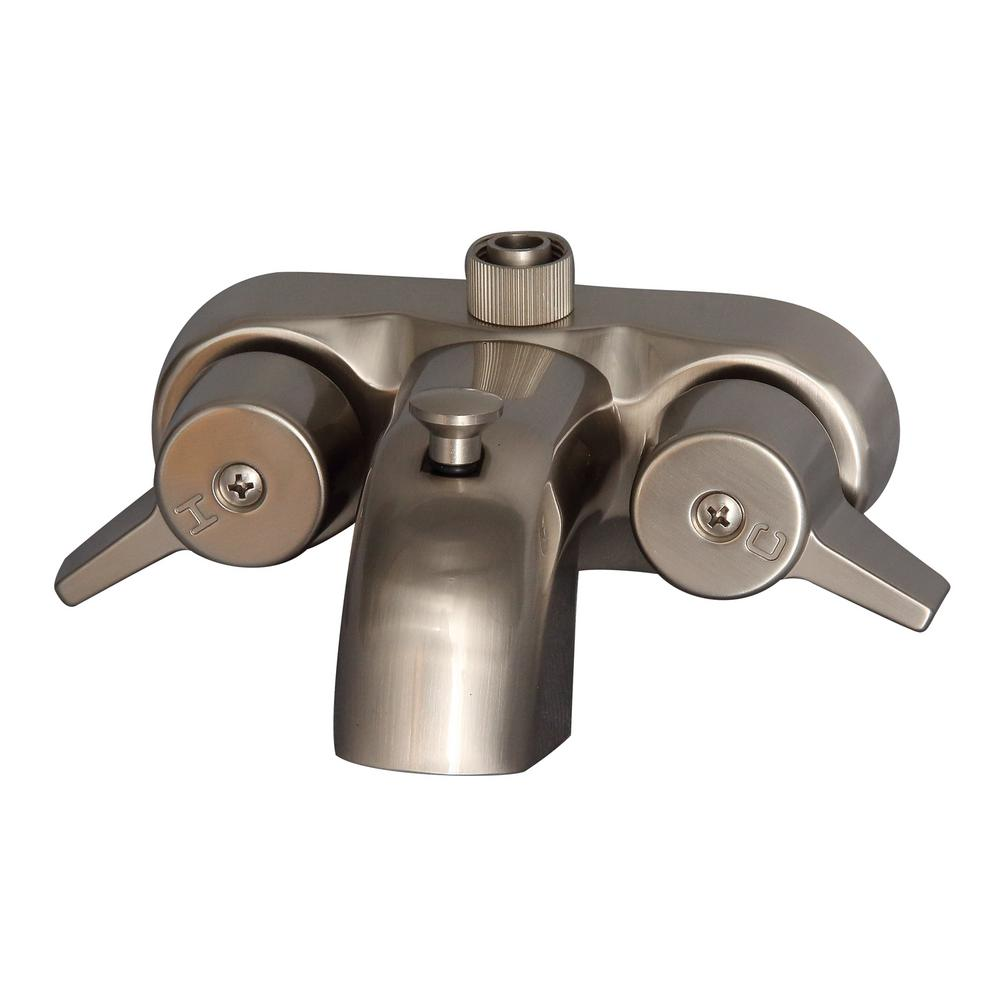 Barclay Products 2-Handle Claw Foot Tub Faucet in Brushed Nickel-195 ...