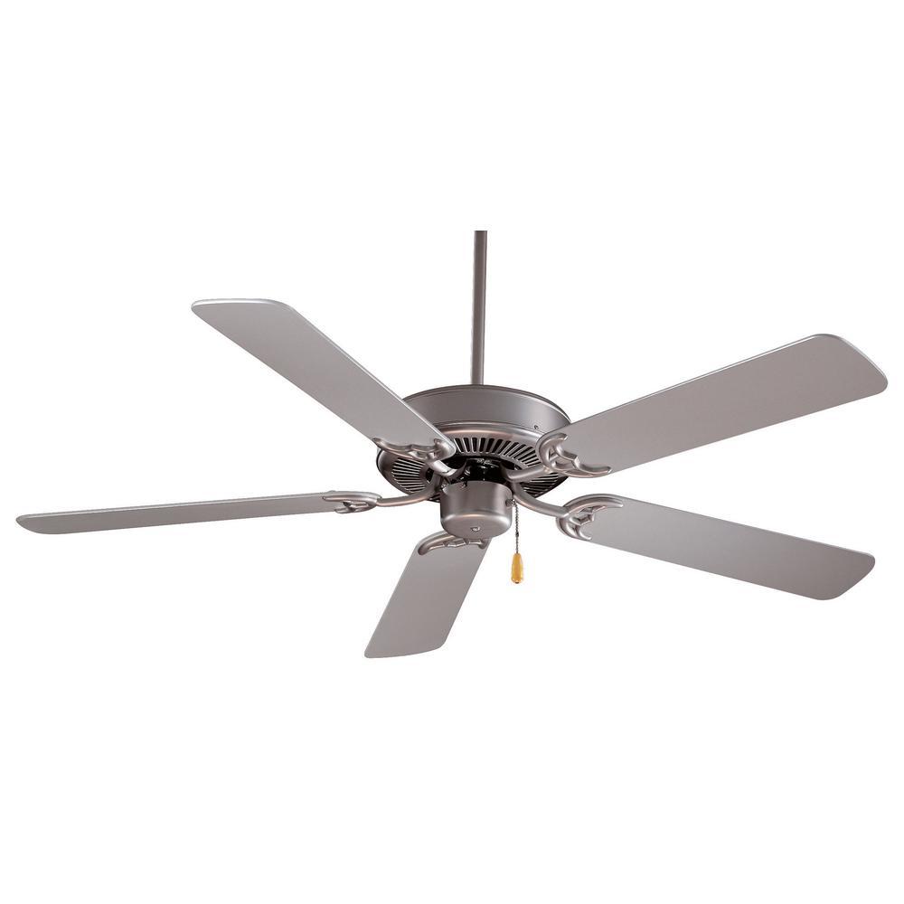 Contractor 42 in. Indoor Brushed Steel Ceiling Fan