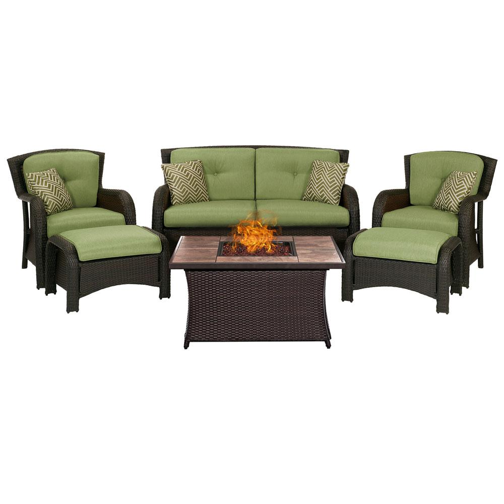 Rst Brands Cannes 6 Piece Loveseat Patio Deep Seating Set
