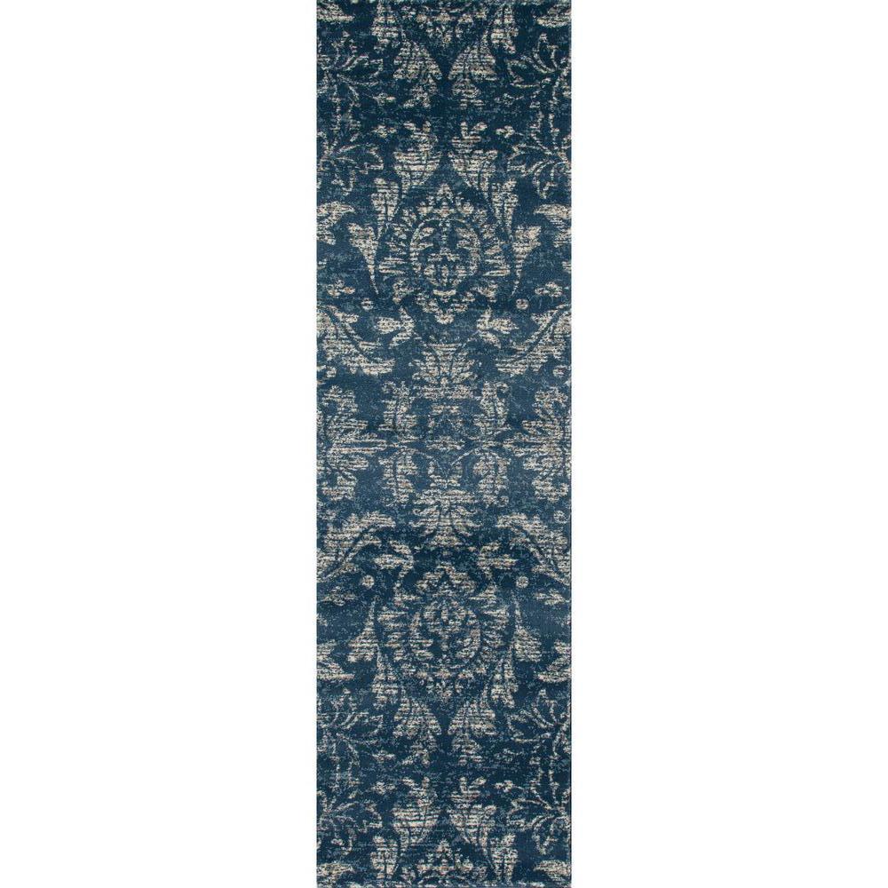 Arabella Arabesque Blue 2 ft. x 8 ft. Runner Rug