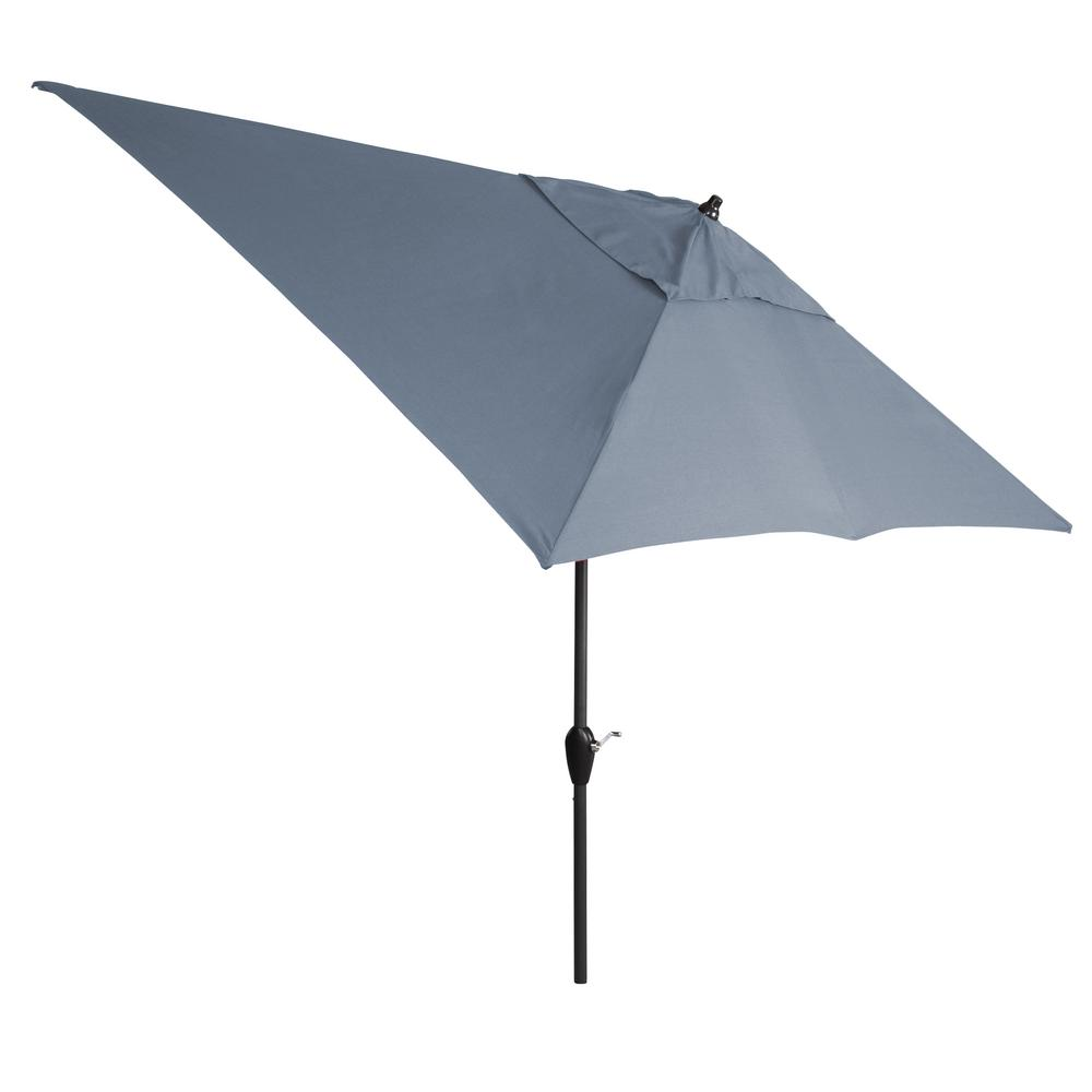 10 ft. Aluminum Tilt Patio Umbrella in Sunbrella Spectrum Denim