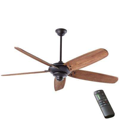 Altura DC 68 in. Indoor Matte Black Ceiling Fan with Remote Control