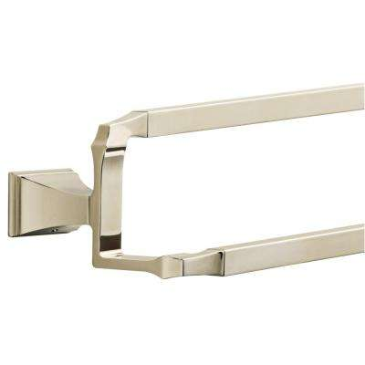 Dryden 24 in. Double Towel Bar in Polished Nickel