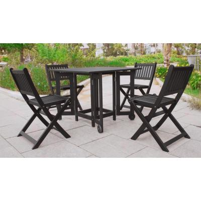 Folding Square Eucalyptus Wood Outdoor Dining Table