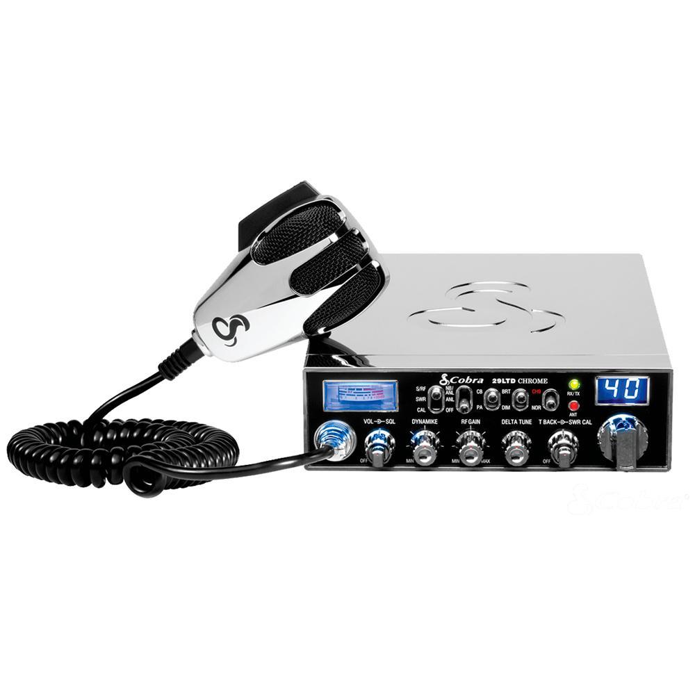 Cobra Chrome Special Edition 40-Channel CB Radio with PA Capability by Cobra