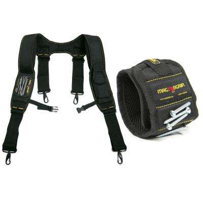 Magnetic Work Suspenders and Magnetic Wristband Set
