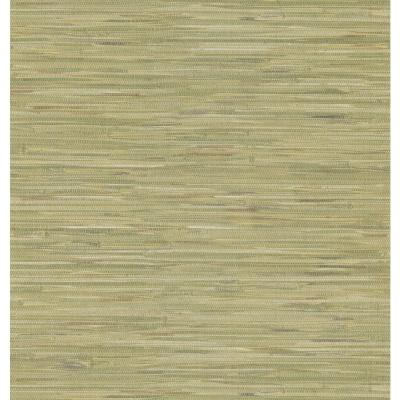 Green Grasscloth Wallpaper Sample