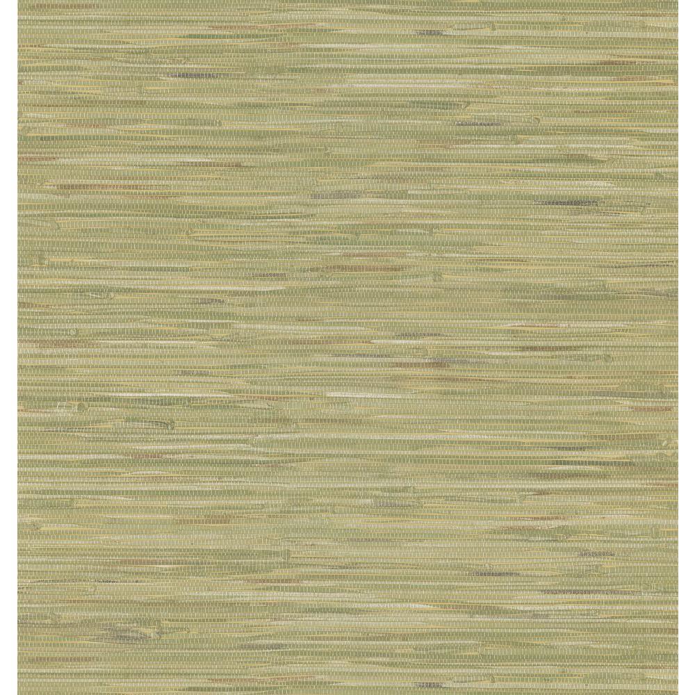 Green Grasscloth Wallpaper Sample
