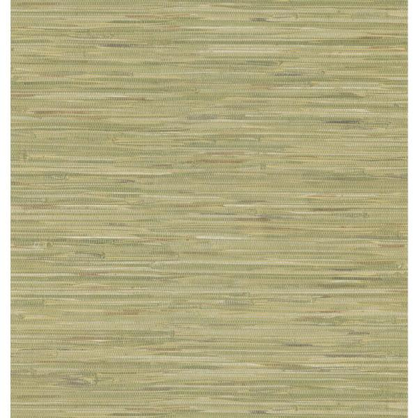 National Geographic Green Grasscloth Wallpaper Sample