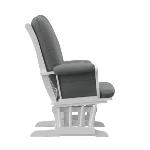 Swell Storkcraft White With Gray Cushion Tuscany Glider And Inzonedesignstudio Interior Chair Design Inzonedesignstudiocom