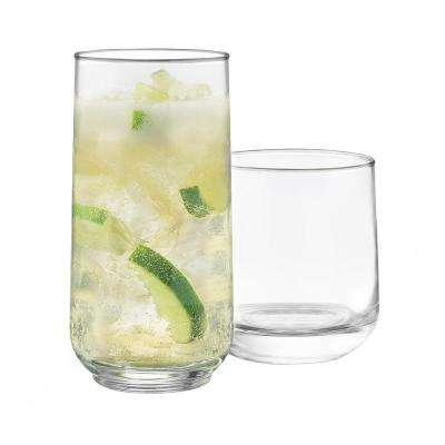 Ascent 16-Piece Clear Glass Set