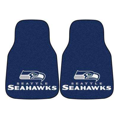 Seattle Seahawks 18 in. x 27 in. 2-Piece Carpeted Car Mat Set