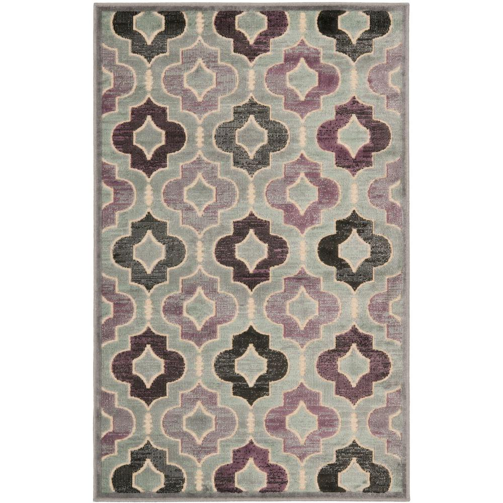 Paradise Grey/Multi 2 ft. 7 in. x 4 ft. Area Rug