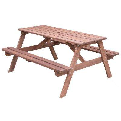 Superb Stained Color A Frame Wooden Outdoor Patio Deck Garden Picnic Table Customarchery Wood Chair Design Ideas Customarcherynet