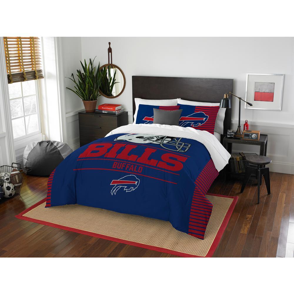 Click here to buy  Bills 3-Piece Draft Multi Full/Queen Comforter Set.
