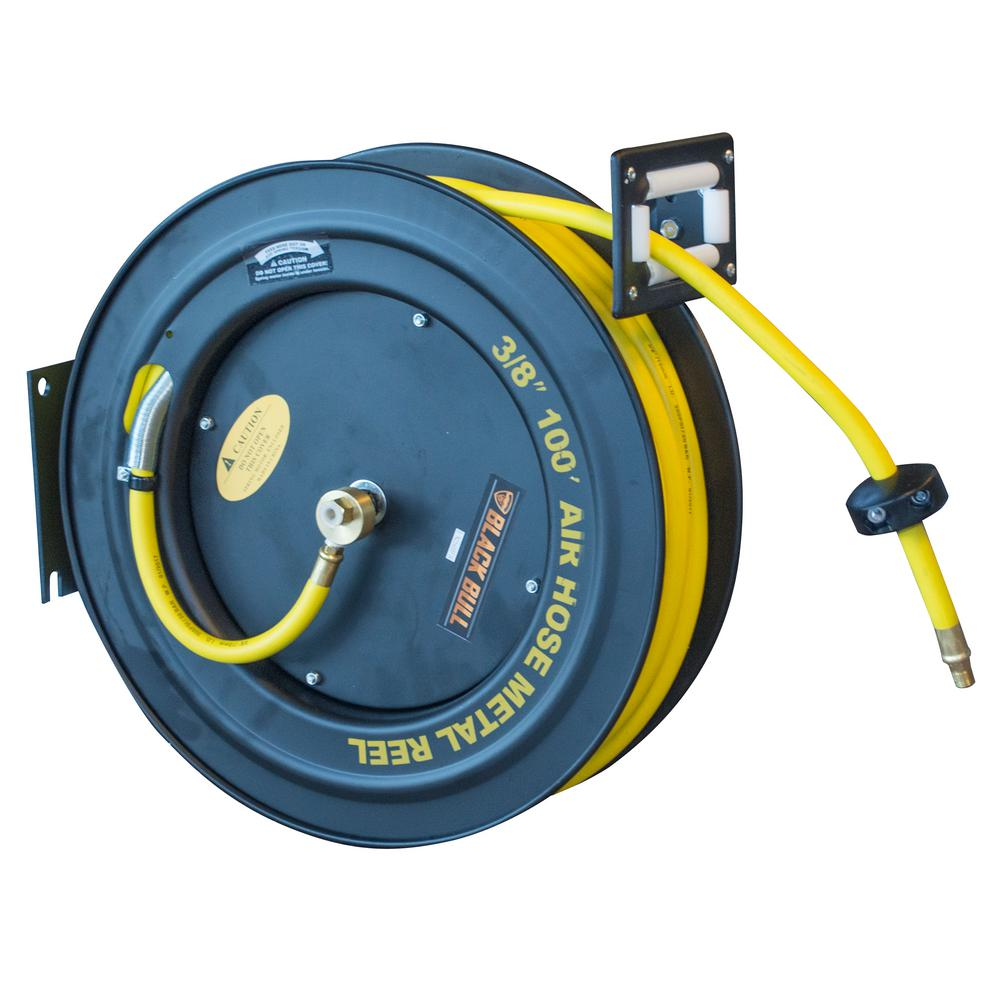 BLACK BULL 100 ft. Retractable Air Hose Reel with Auto Rewind