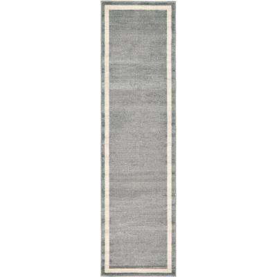 Del Mar Maria Gray 2' 7 x 10' 0 Runner Rug