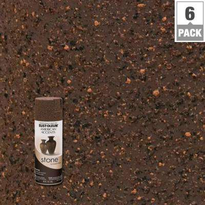 12 oz. Stone Creations Mineral Brown Textured Finish Spray Paint (6-Pack)