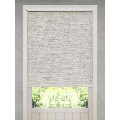 Cut-to-Size Heather Gray Cordless Light Filtering Natural Fiber Roller Shade 53 in. W x 72 in. L