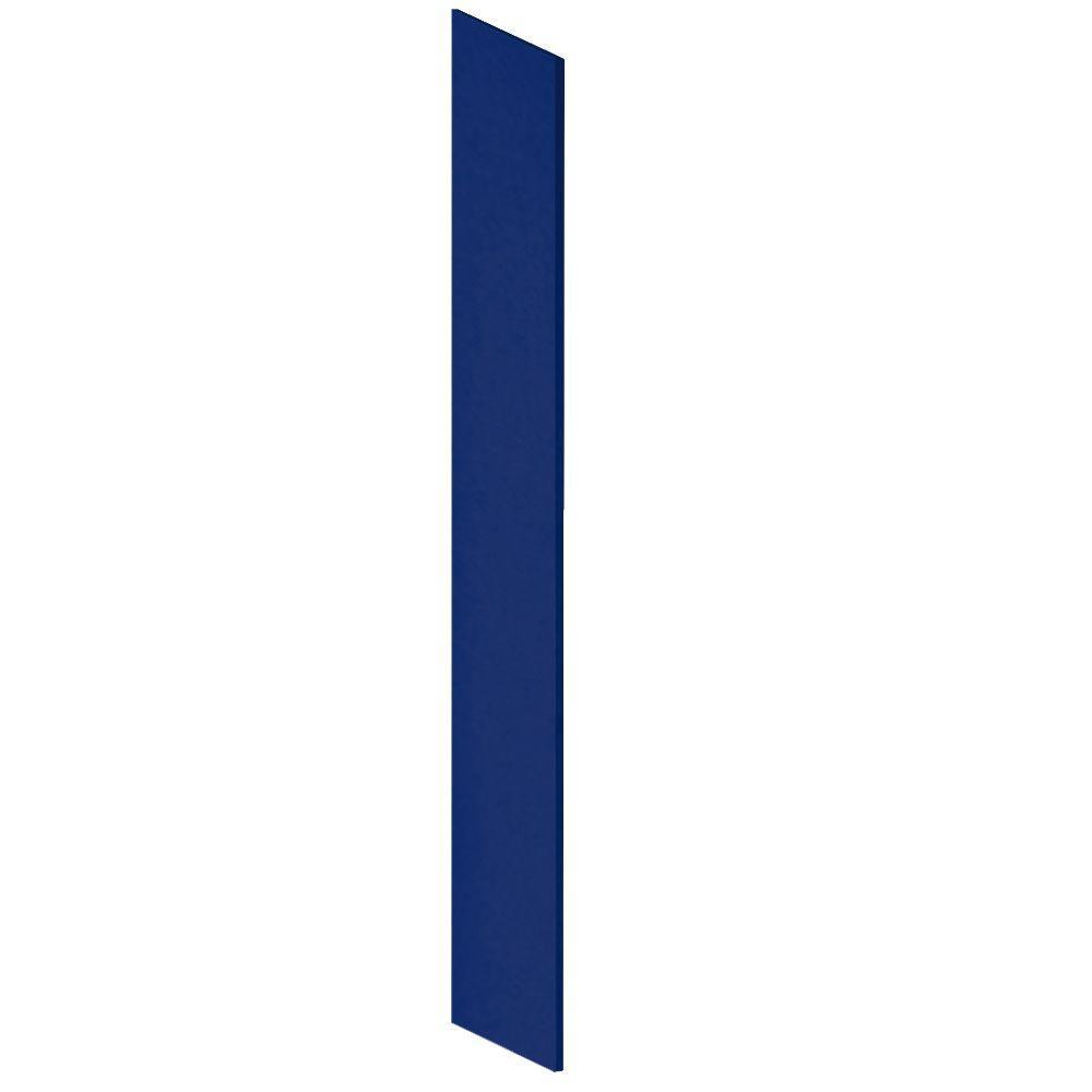 Salsbury Industries Heavy Duty Plastic Side Panel with Sloping Hood for Heavy Duty Plastic Locker in Blue