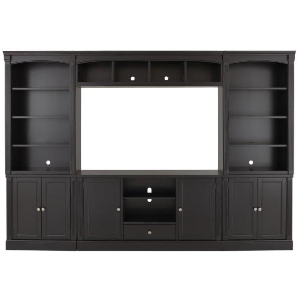Undefined Edinburgh 6 Piece Black Modular Entertainment Center