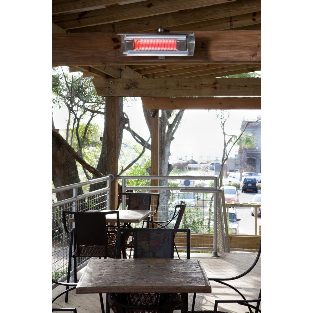 Fire Sense 1 500 Watt Stainless Steel Wall Mounted Infrared Electric Patio Heater