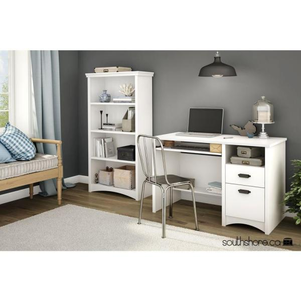 South Shore Gascony Pure White Open Bookcase 7360767