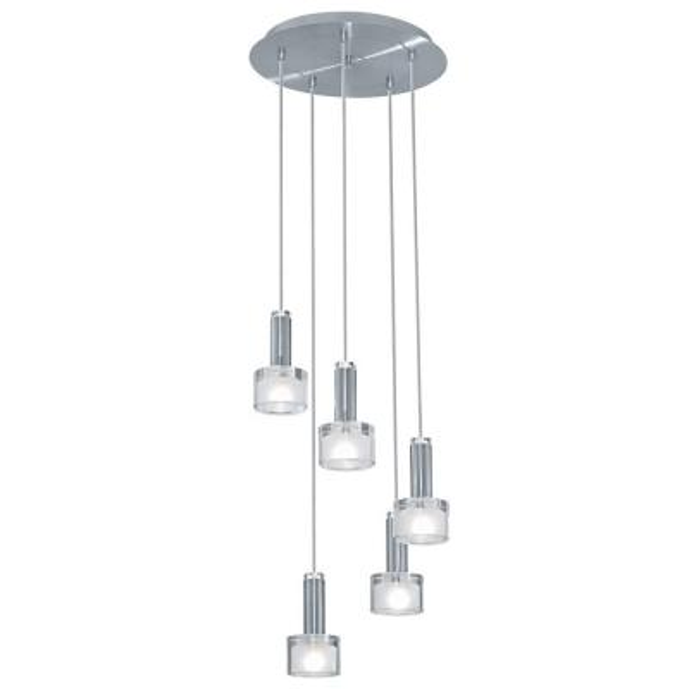 Fabiana 5-Light Chrome Ceiling Mount Pendant
