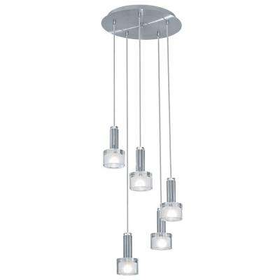 Fabiana 5-Light Chrome Ceiling Mount Pendant