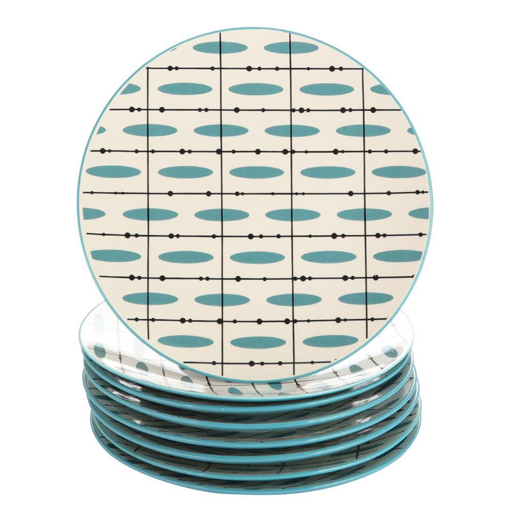Luminescent Teal Dessert Plate (Set of 8)