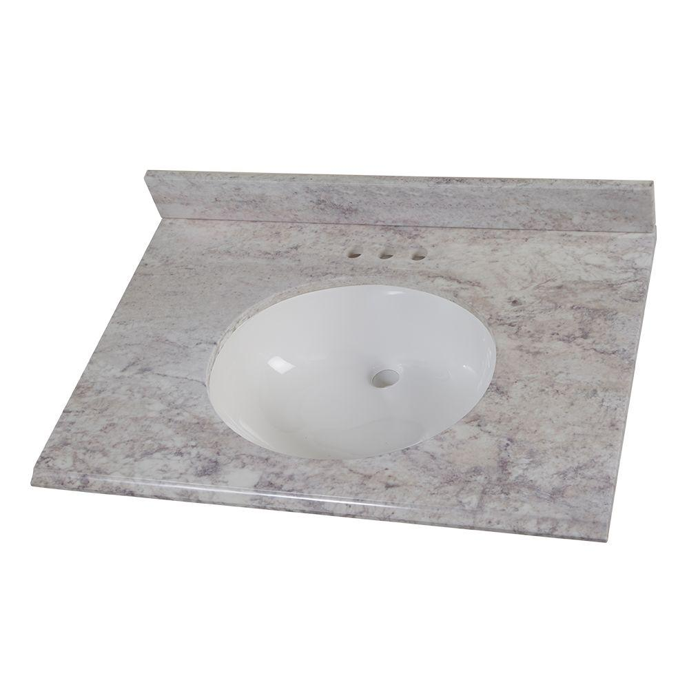 31 in. W x 22 in. D Stone Effects Vanity Top
