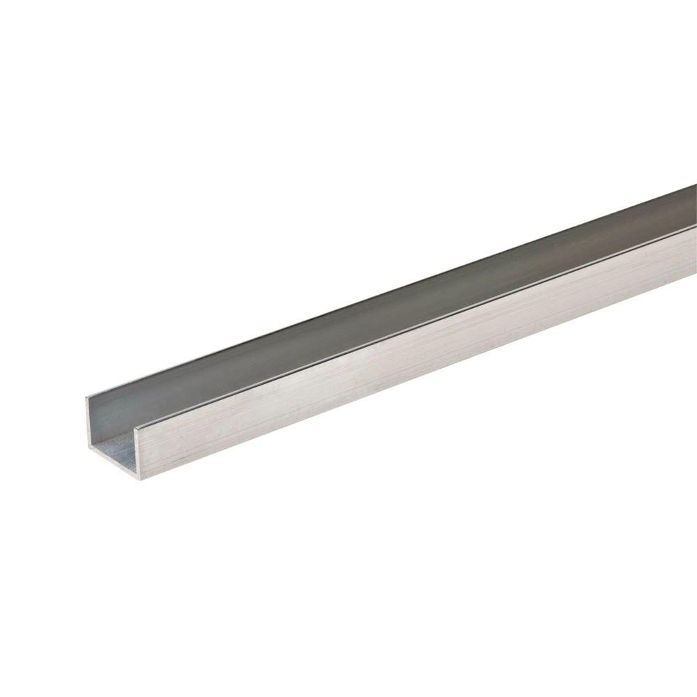 Everbilt 1 16 In T X 3 4 In W X 3 4 In H X 96 In L Aluminum C Channel 802667 The Home Depot