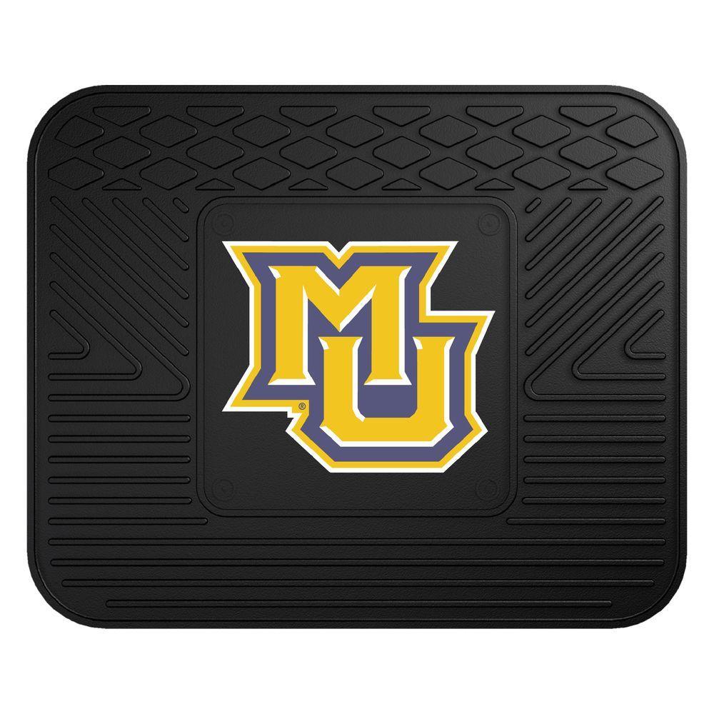 NCAA Marquette University Black Heavy Duty 1-Piece 14 in. x 17 in. Vinyl Utility Mat