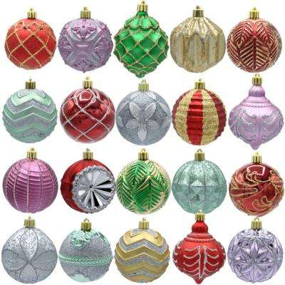 Warm Tidings 80mm Assorted Ornament Set (20-Count)