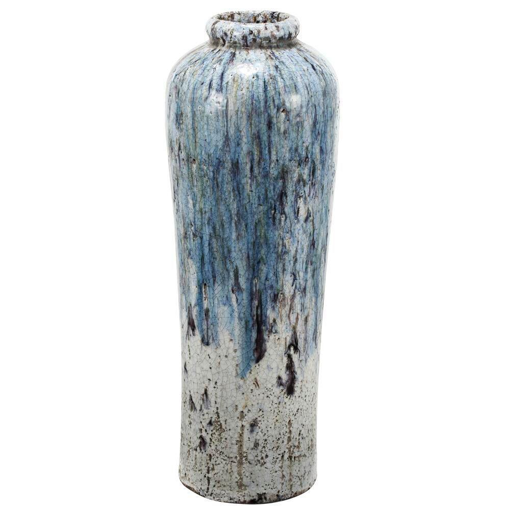 9 in. x 27.5 in. Terracotta Vase