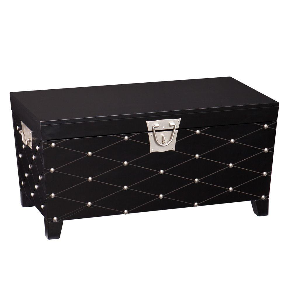 Nailhead Black Coffee Table