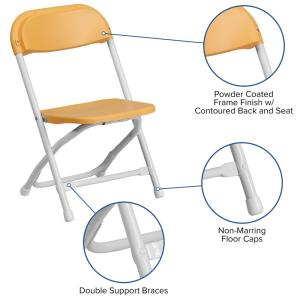Terrific Carnegy Avenue Yellow Kids Plastic Folding Chairs Set Of 2 Ocoug Best Dining Table And Chair Ideas Images Ocougorg