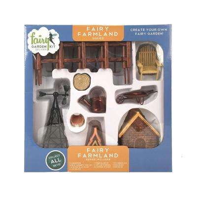Fairy Farmland Polyresin Fairy Garden Kit (17-Piece)