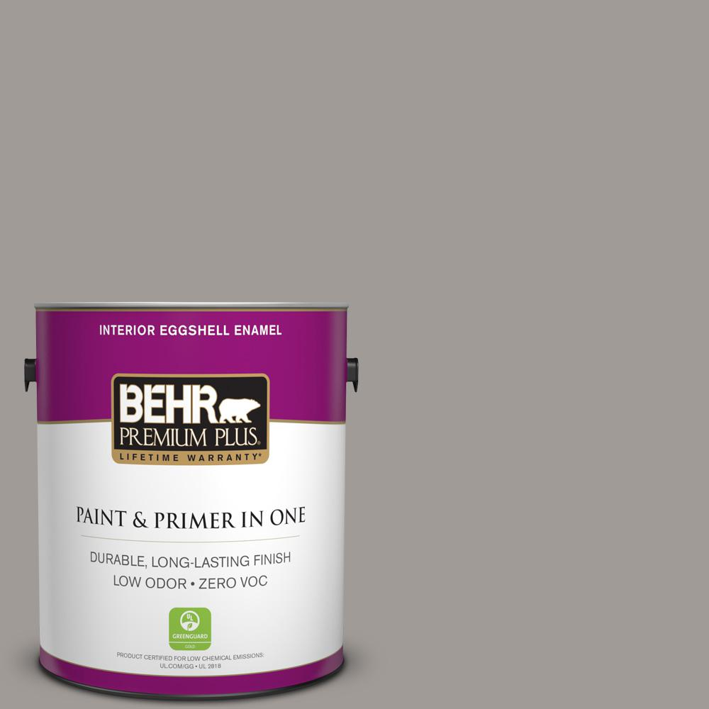 1 gal. #PPU18-15 Fashion Gray Zero VOC Eggshell Enamel Interior Paint