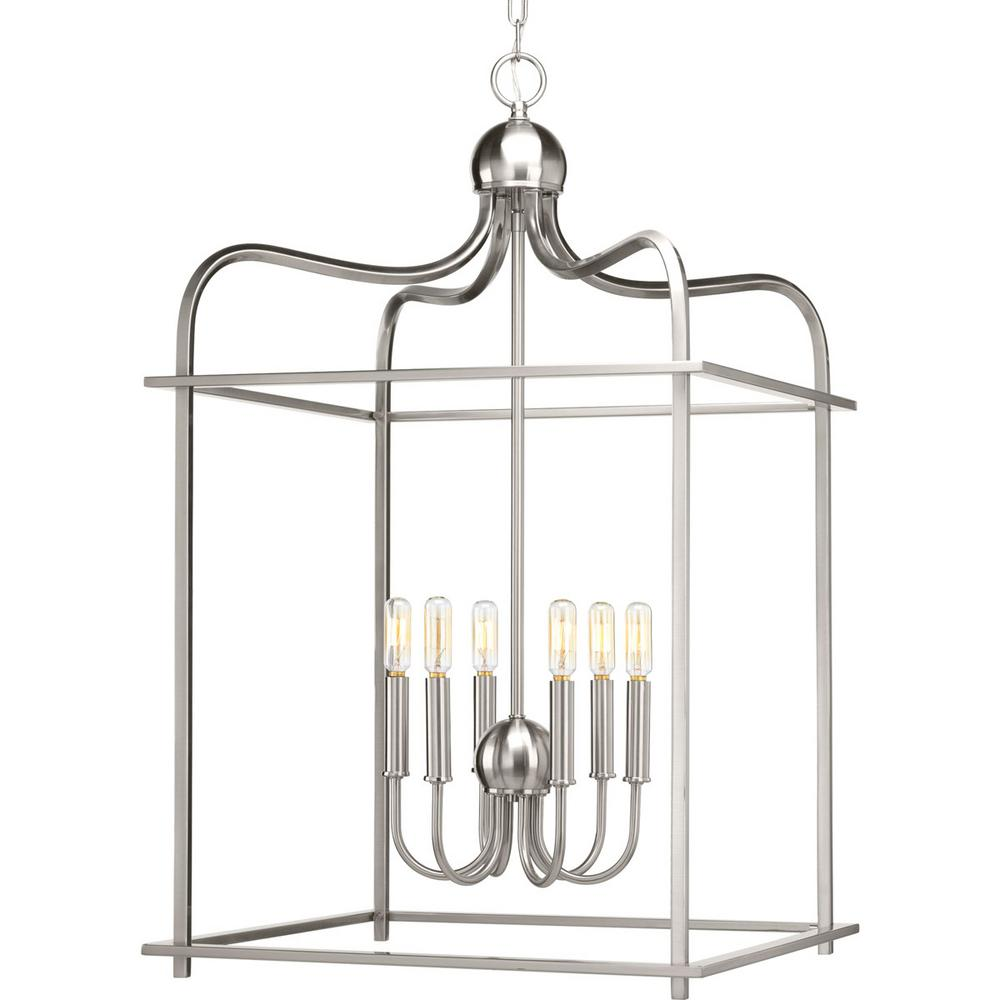 Assesmbly Hall Collection 6 -Light Brushed Nickel Pendant