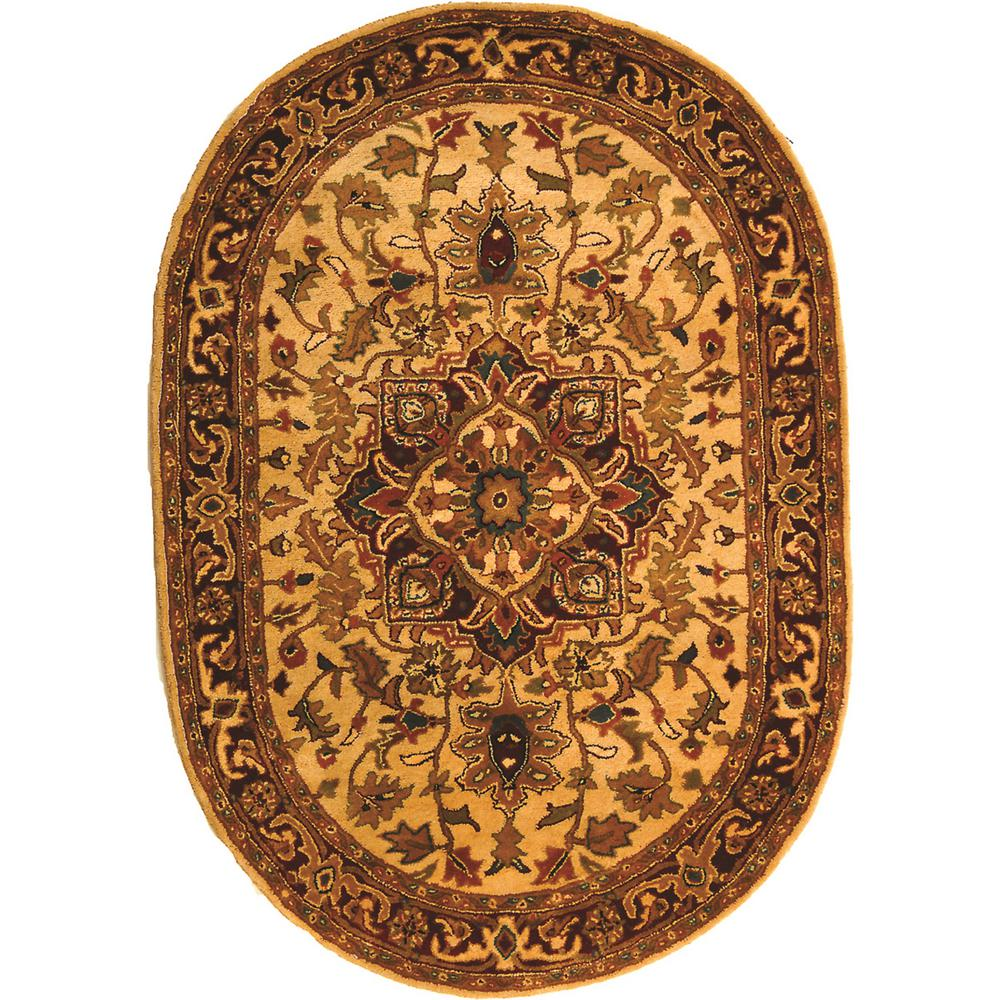 Safavieh Classic Black/Green 5 Ft. X 7 Ft. Oval Area Rug