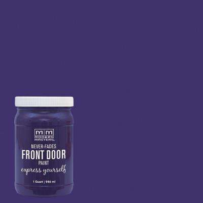 Express Yourself 1 qt. Satin Spiritual Purple Water-Based Front Door Paint