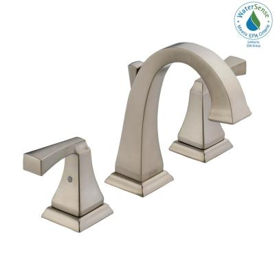 Dryden 8 in. Widespread 2-Handle Bathroom Faucet with Metal Drain Assembly in Stainless