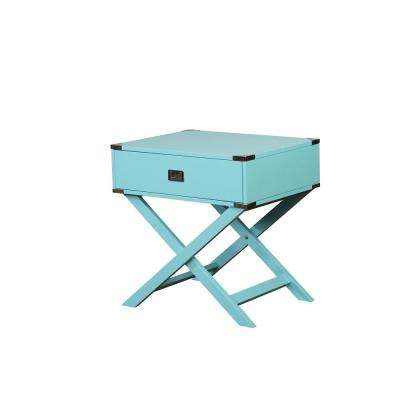 Sara X-Base Blue Accent Table