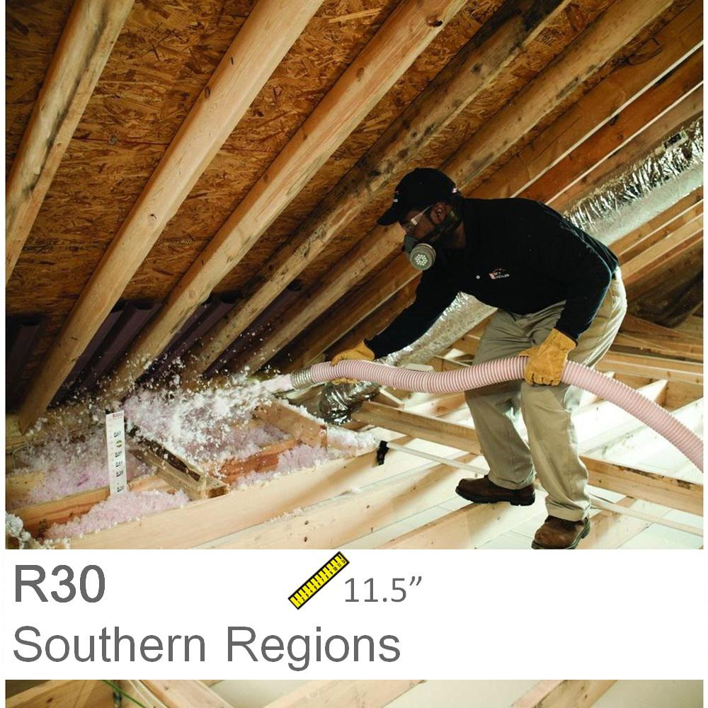 Installed r 30 fiberglass blown in attic insulation r 30 1000sqft installed r 30 fiberglass blown in attic insulation solutioingenieria Images
